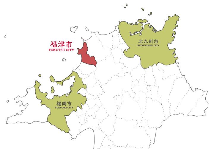 福津市の位置